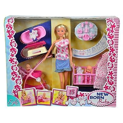 29cm Steffi Love New Born Baby Set Doll: Toys & Games