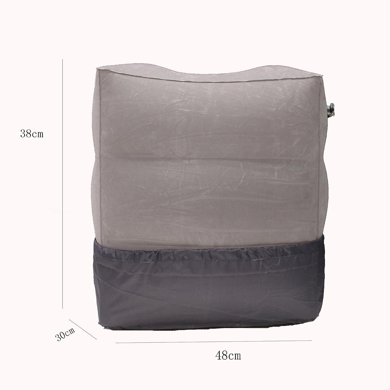 para cama de ni/ños almohada para viaje para el coche o la oficina Three layers sof/á para volar Coj/ín hinchable port/átil de PVC Sonicee para descansar los pies