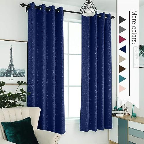 Sophia William 52″ W x 63″ L Blackout Curtains