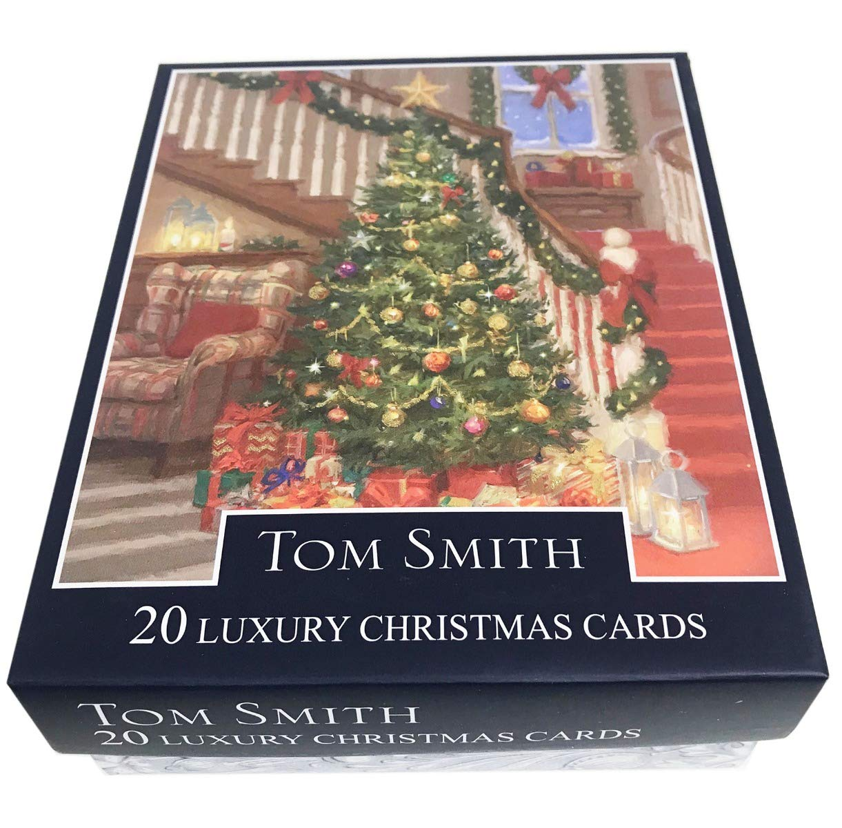 Christmas Cards Tree 2 Designs 24 Pack Luxury Xmas Tom Smith Quality ...