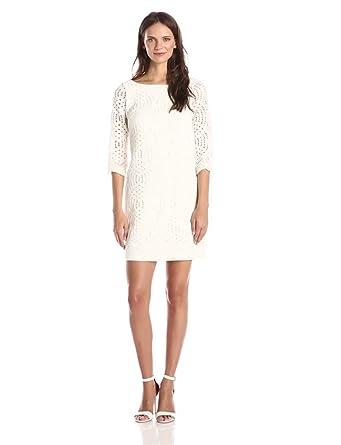Jessica Simpson Women's Shift Dress, Ivory, 2