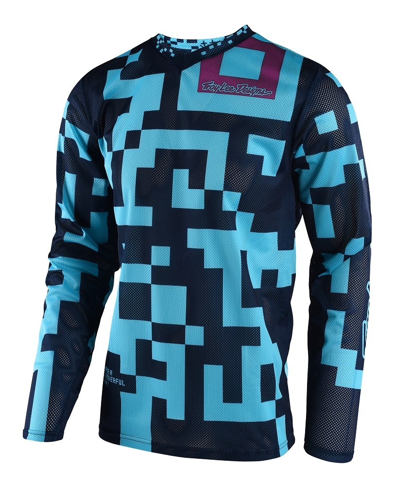 Troy Lee Designs GP Air Maze Men's Off-Road Motorcycle Jersey - Turquoise/Navy / 2X-Large