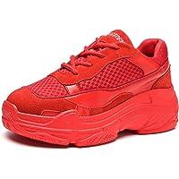 RAINSTAR Women's Casual Clunky Sneaker Outdoor Sport Lace Up Platform Net Shoes