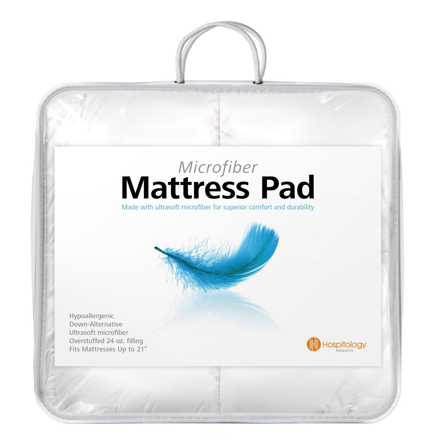 Full size featherbed down mattress cover pillow top topper for Best full size mattress topper