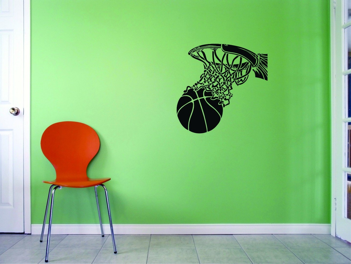 Exceptional Amazon.com: DISCOUNTED Decal   Wall Sticker : Basketball Hoop Sports Home  Decor Picture Art Size : 10 Inches X 20 Inches   22 Colors Available: Home  U0026 ...