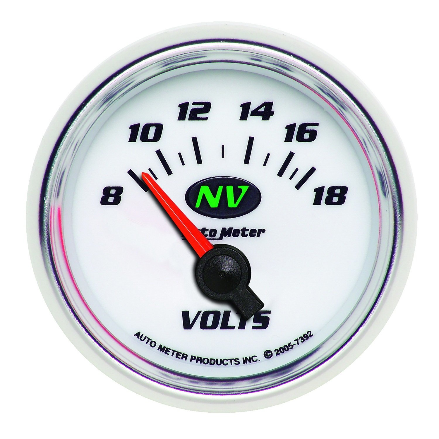 Auto Meter 7392 NV 2-1/16' 8-18V Short Sweep Electric Voltmeter