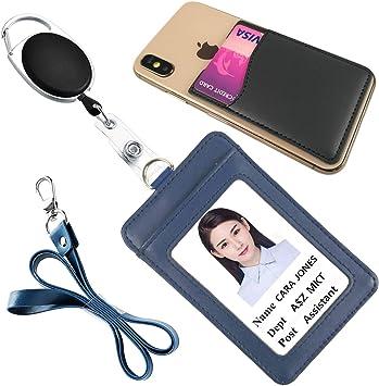 1x Retractable Reel ID Badge Lanyard Name Tag Key Card Holder Belt Clip GS