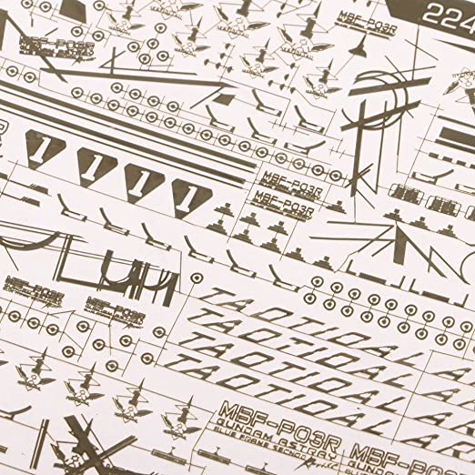 2247-704 Model Decal Paste Stickers Toys Model Tools for MG Gundam 9.5 x 9cm