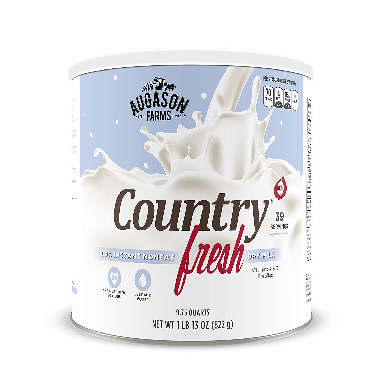 Augason Farms Country Fresh 100% Real Instant Nonfat Dry Milk, 1 lb, 13 oz. by Augason Farms