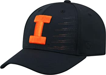 new concept c3511 0f1b5 Top of the World Men s Illinois Fighting Illini Dazed 1Fit Flex Black Hat,  OneSize