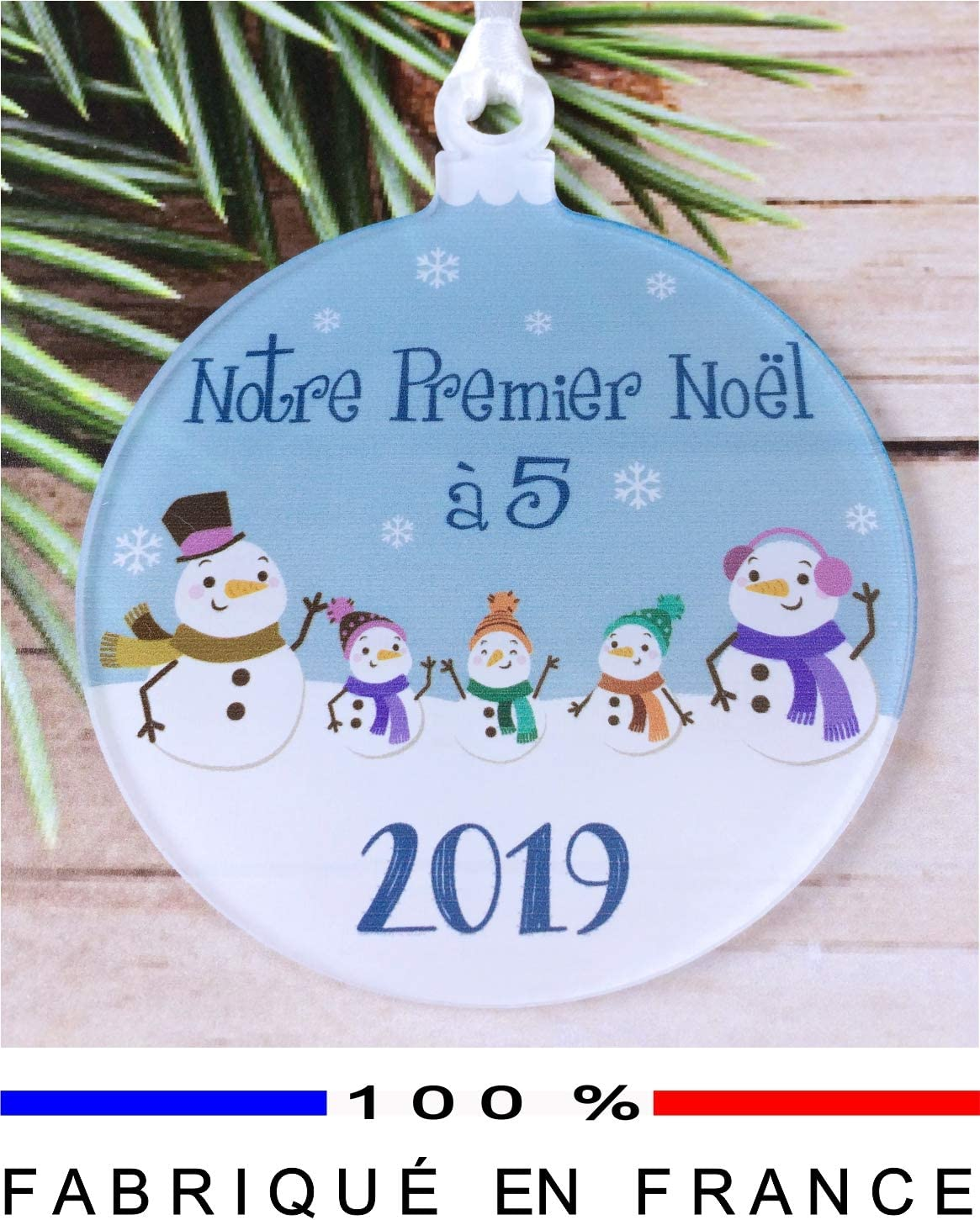 Cadeau en compl/ément de la Traditionnelle Boule Mon 1er no/ël D/écoration de Sapin Gravure Events Mon Premier No/ël avec Mamie