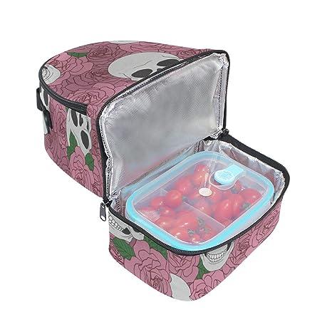Amazon.com: Bolsa de almuerzo aislada reutilizable, con ...