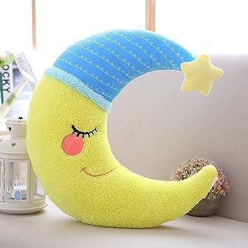 Amazon.com: MASSJOY - Cojín de almohada con diseño de luna ...