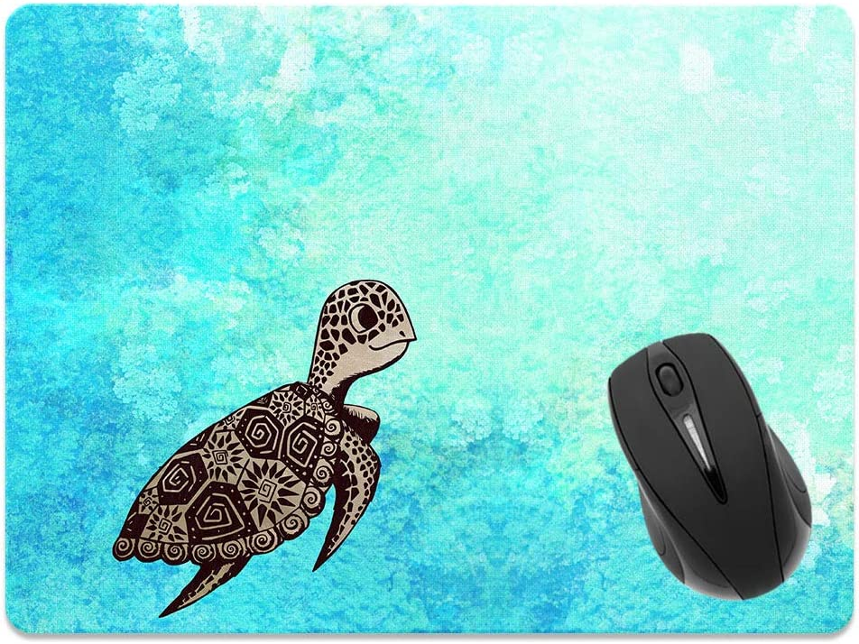 Size Non-Slip Rectangle Mousepad X-Large Extra Large Office and Gaming Desk WIRESTER Banana Coconut Tropical Leaves Black Mouse Pad for Home