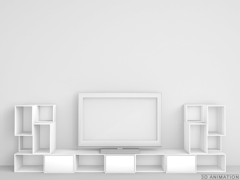 Design Regal - Modulares TV-Möbel in weiß