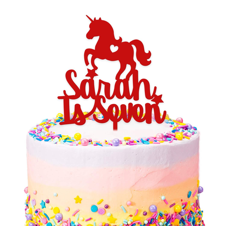 Unicorn One Unicorn Cake Topper First Birthday