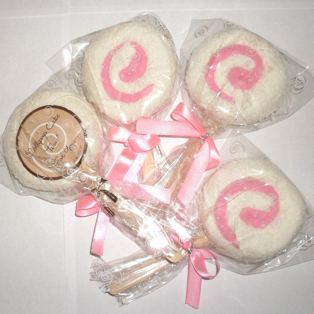 Amazon.com: Lollipop Towel Favors - Pink [SET OF 12]: Kitchen & Dining