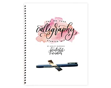 photograph regarding Printable Wisdom titled No Fuss Calligraphy Beginner Package as a result of Printable Knowledge: Amazon