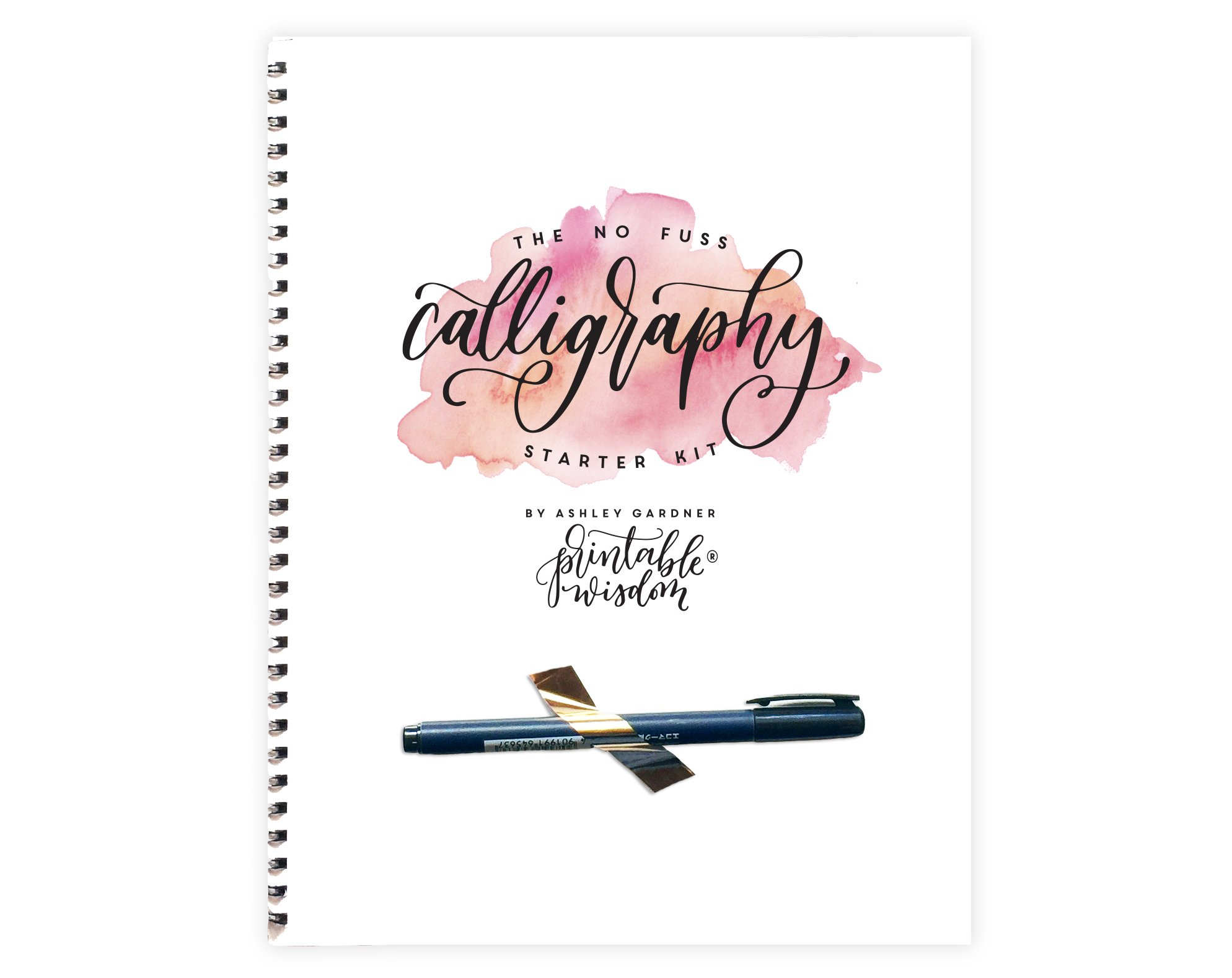 No Fuss Original Calligraphy Kit, Learn calligraphy for beginners and step by step instructions, calligraphy pen included, learn modern hand lettering, modern calligraphy