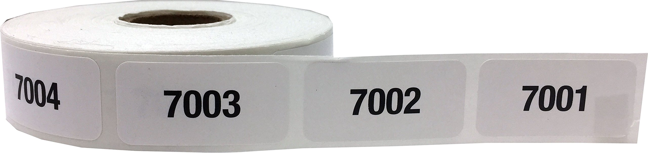Consecutive Number Labels Bulk Pack Numbers 1 Through 10,000 White/Black .75 x 1.5 Rectangle Small Number Stickers For Inventory by InStockLabels.com (Image #10)