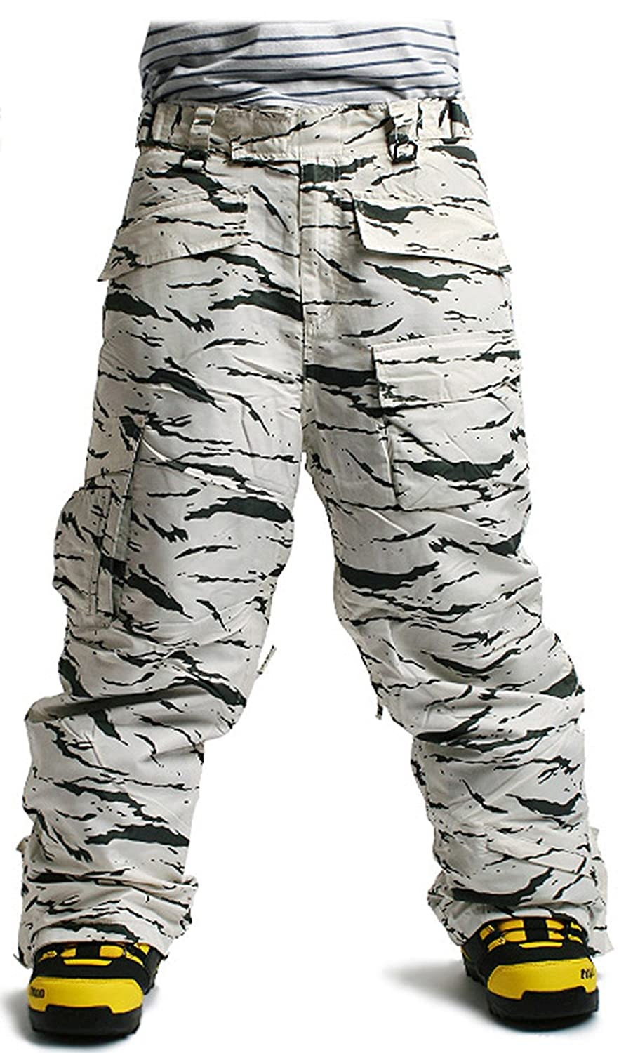 South Play Mens Premium Waterproof Ski Snowboard Wear Pants Trousers Desert