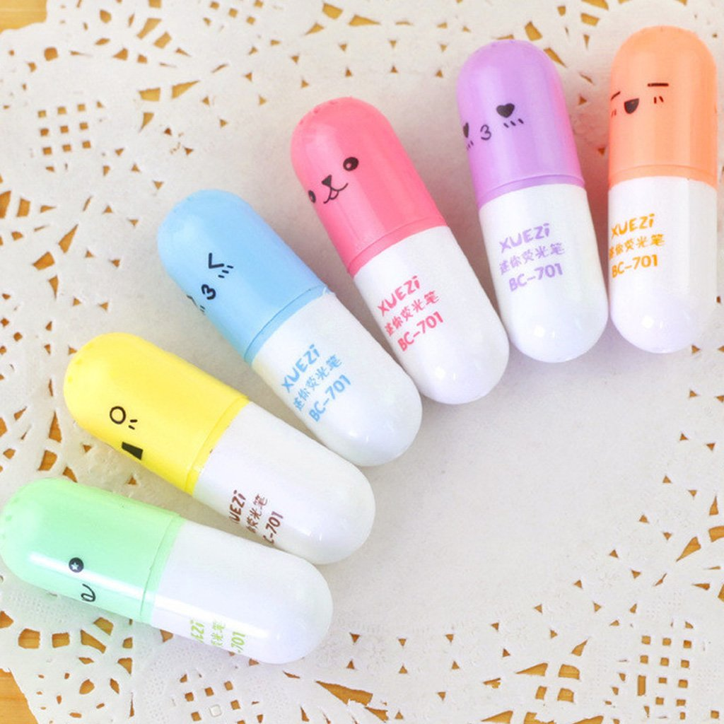 Redriver Mini Highlighter Pen, Pill Leaves Eggs Shape (Pill) by Redriver (Image #2)