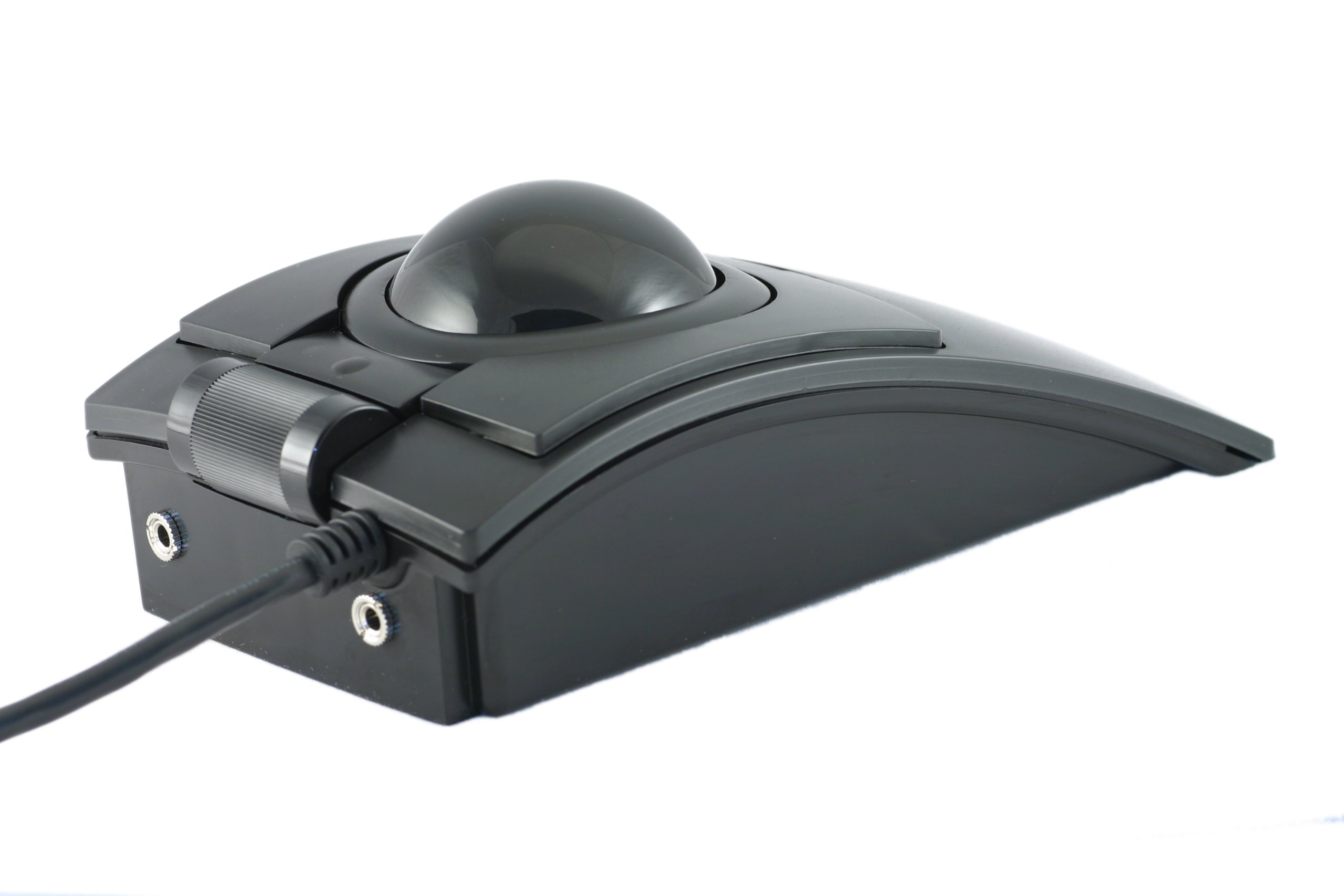 CST2545-5W (L-Trac) USB Wired Ambidextrous High Performance Laser Ergonomic 5-Button Trackball (Black) - Made in the USA