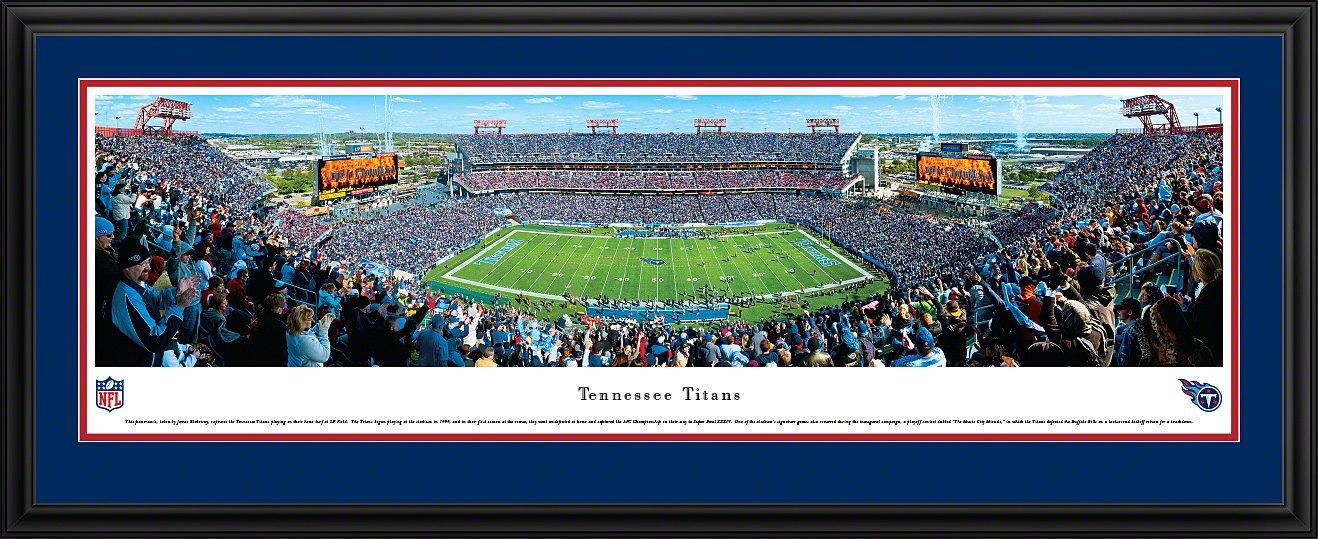 Tennessee Titans Panoramic Print 50 Yard Line at Nissan Stadium