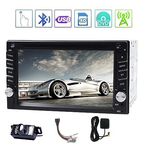 Reproductor de DVD de doble DIN para coche con sistema UI GPS NAVI de Windows CE