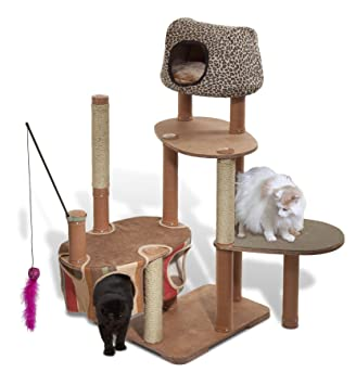 Amazon.com : Solvit Kitty'scape Play Structure Deluxe Kit for Cats ...