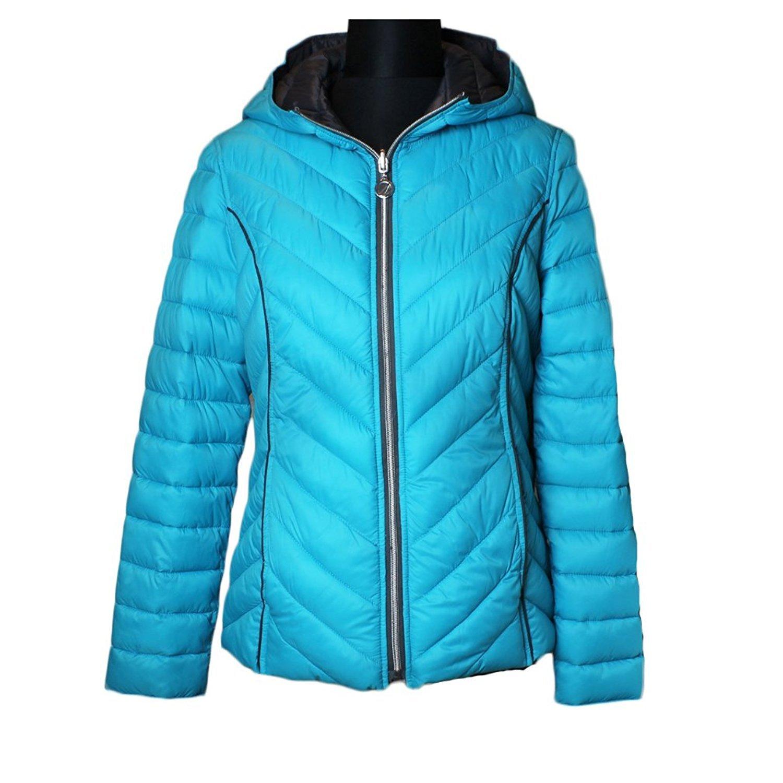 3c0bd9154b2 Amazon.com: Nautica Reversible Packable Down Coat - Tourmaline/Chrome:  Clothing
