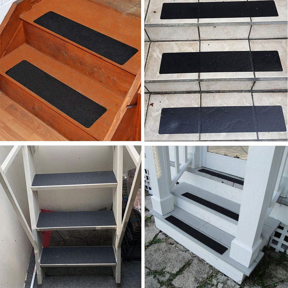 EPRHAY Barcos 2,5 cm, 10 m, Transparente, 2 Rollos para escaleras garajes Cinta Antideslizante para escaleras de Alta tracci/ón Resistente al Desgaste escaleras escaleras