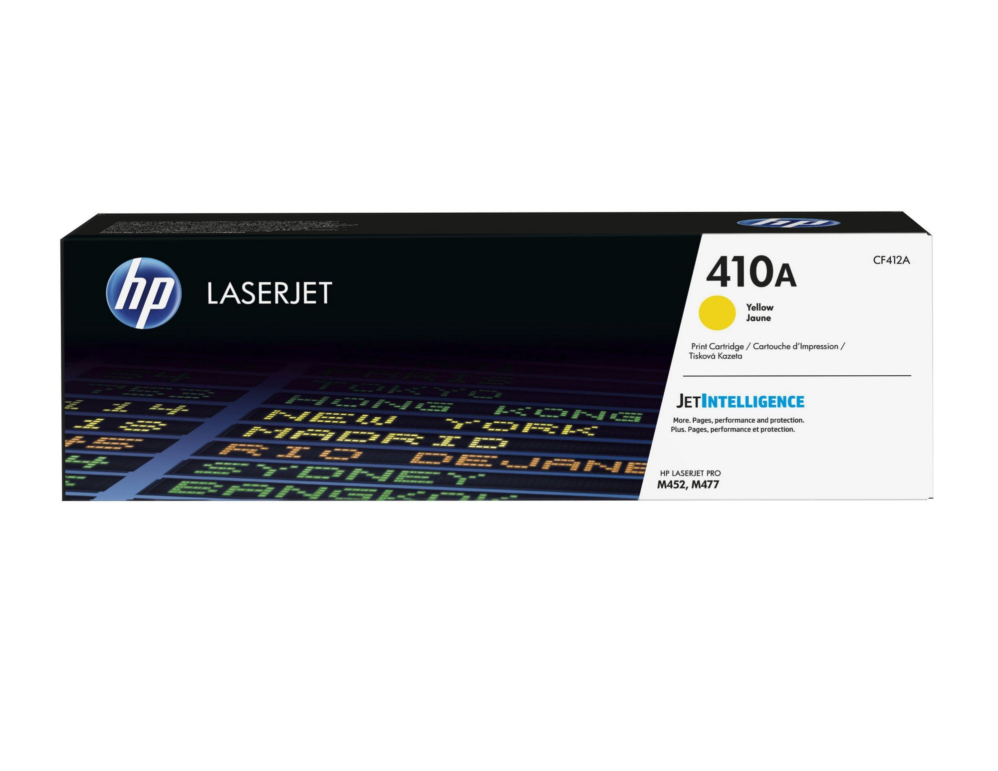HP 410A (CF412A) Toner Cartridge, Yellow for HP Color LaserJet Pro M452dn, M452dw, M452nw, MFP M377dw, MFP M477fdn, MFP M477fdw, MFP M477fnw