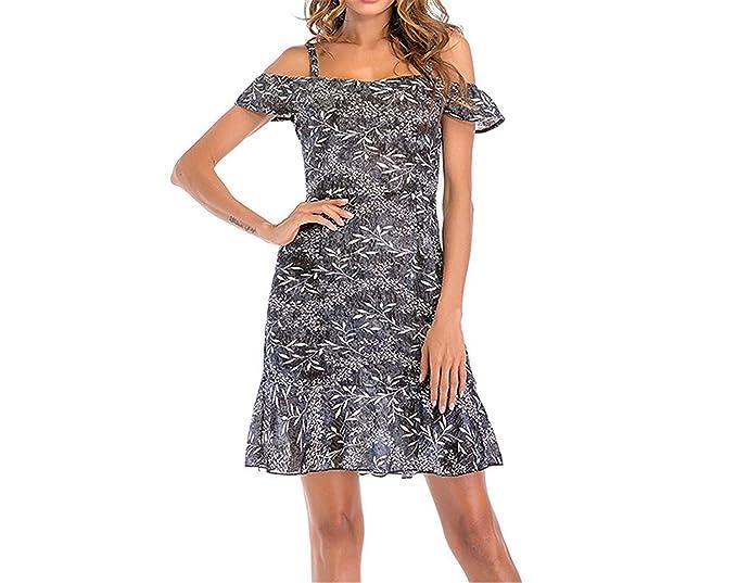 ea5db85067e Qus Summer Strap Dress Women Off Shoulder Floral Dress Female Beach Dress  Chiffon Sundress Robe Femme