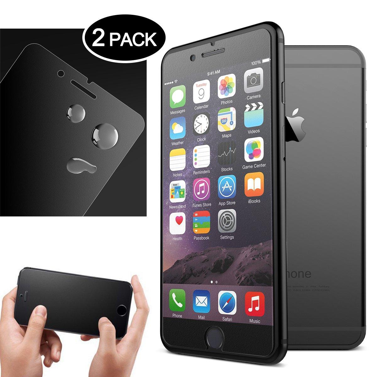iPhone 6 Plus/iPhone 6S Plusガラススクリーンプロテクター(2パック)、Dexnor iPhone 6 Plus 6S Plus強化飛散防止ガラススクリーンプロテクター0.33 mm 2.5D 9H 6 Plus 6S Plus用透明飛散防止フィルム   B074JYLPF3