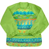 green sprouts Easy-wear Long Sleeve Bib | Waterproof Protection from Mealtime to Playtime | Flipped Pocket, Soft…