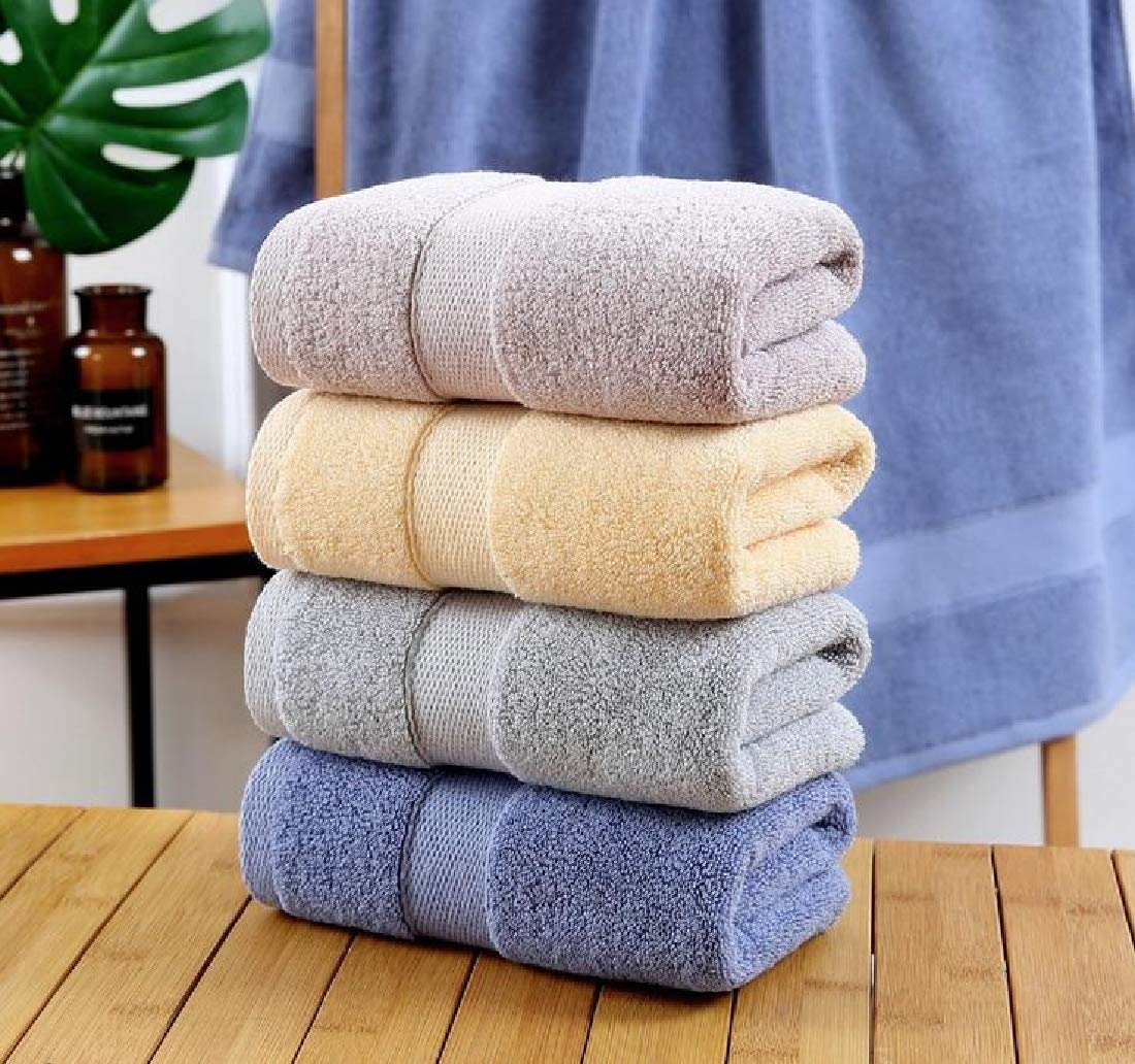 XiaoShop Maximum Luxurious Pool Gym Lightweight Highly Absorbent Dressy Ideal for Everyday use Quick Drying Extra Large Flattering Fast Drying Soft Bath Towel Set Blue 70140 by XiaoShop (Image #3)