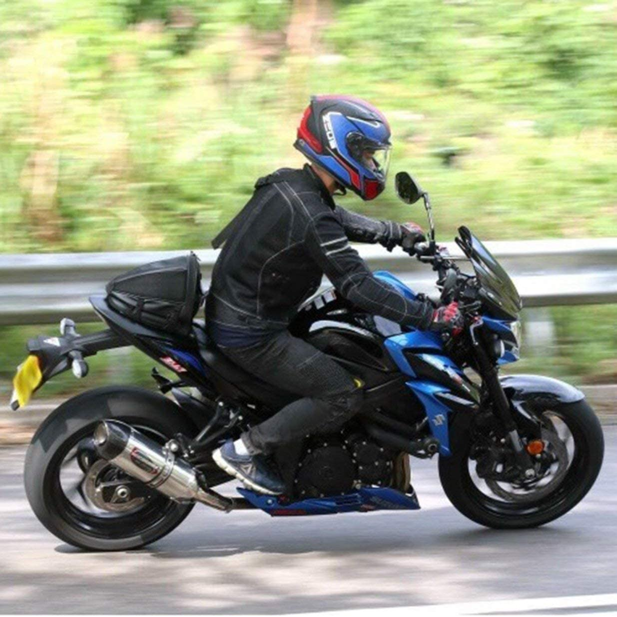 Sairis Motor Alforja Bolsa de Cola Bolsa Trasera Trasera Asiento Bolsa de Transporte Deportiva Impermeable Moto Bici Equipaje Alforja
