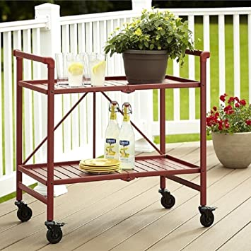 Amazon.com: Rolling Serving Cart Wheels Outdoor Folding Portable ...