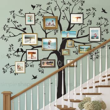 Amazon Com Staircase Family Tree Wall Decal Tree Wall Decal
