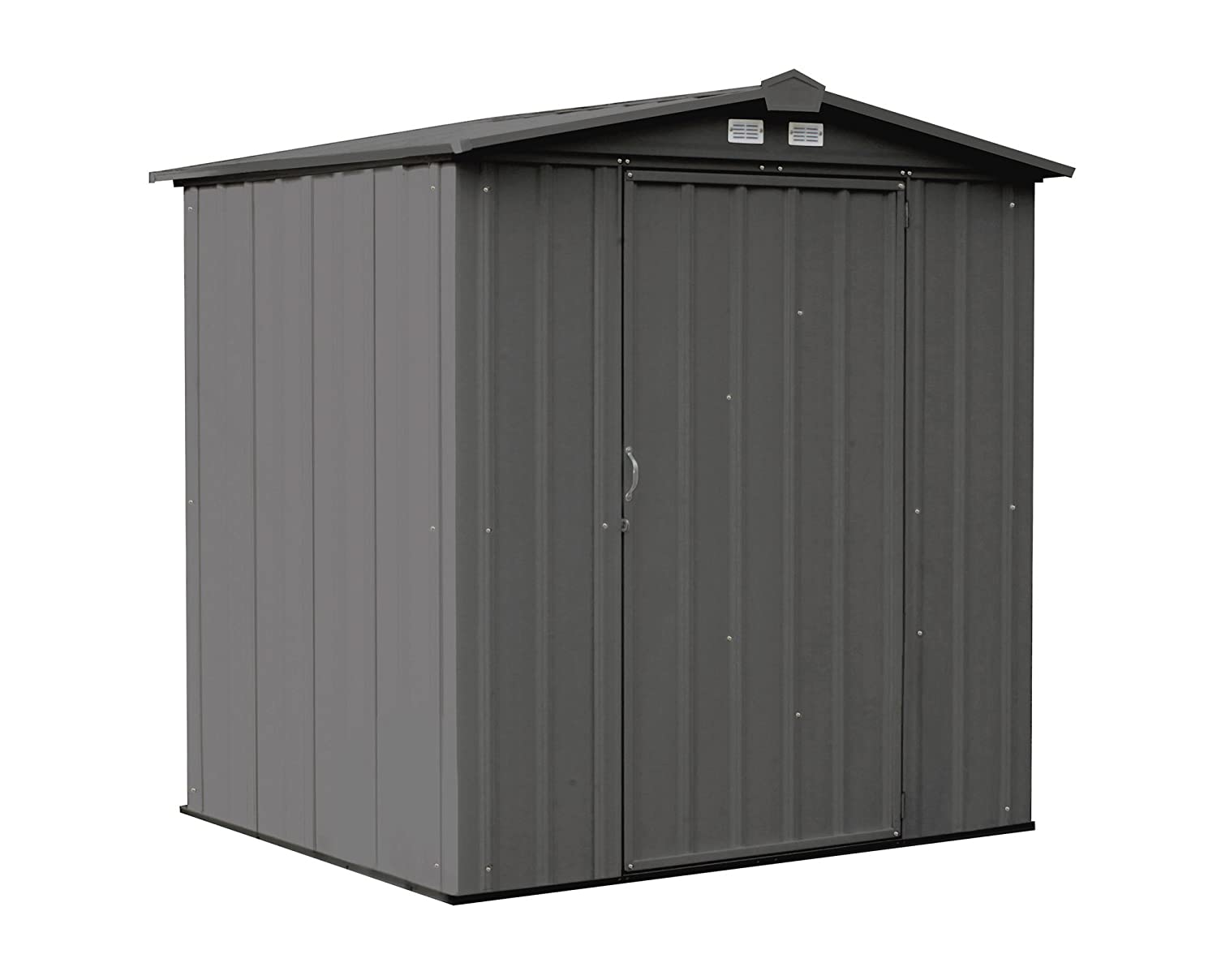Arrow 6' x 5' EZEE Shed Cream Low Gable Steel Storage Shed with Peak Style Roof