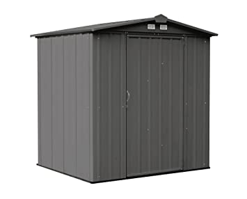 arrow ezee shed low gable steel storage shed charcoal 6 x 5 ft