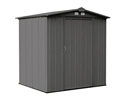 Arrow EZEE Shed Low Gable Steel Storage Shed, Charcoal, 6 X 5 Ft.