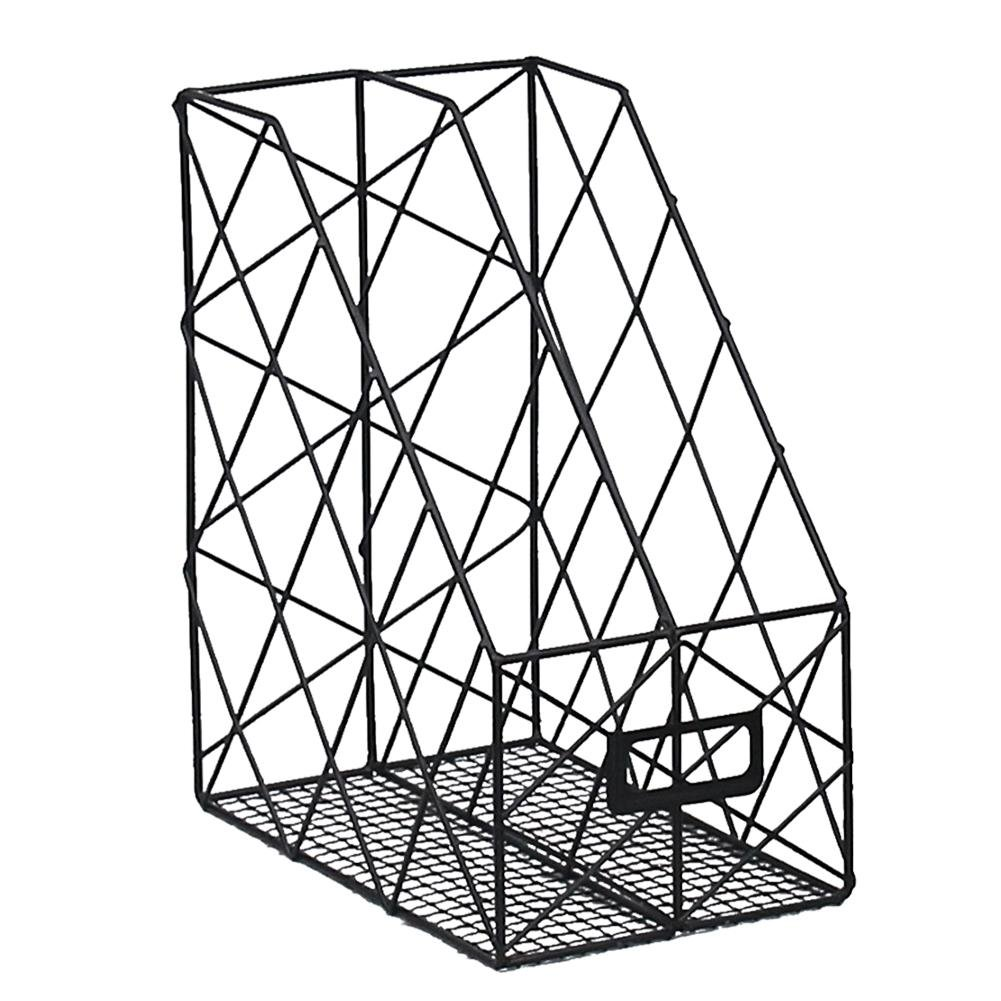 Portariviste Chengstore desktop rack,2scomparti in rete di metallo casa ufficio scrivania Book Sorter file di mensola per riviste libri, oro