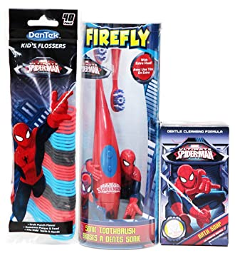 amazon com ultimate spiderman sonic toothbrush with extra head and