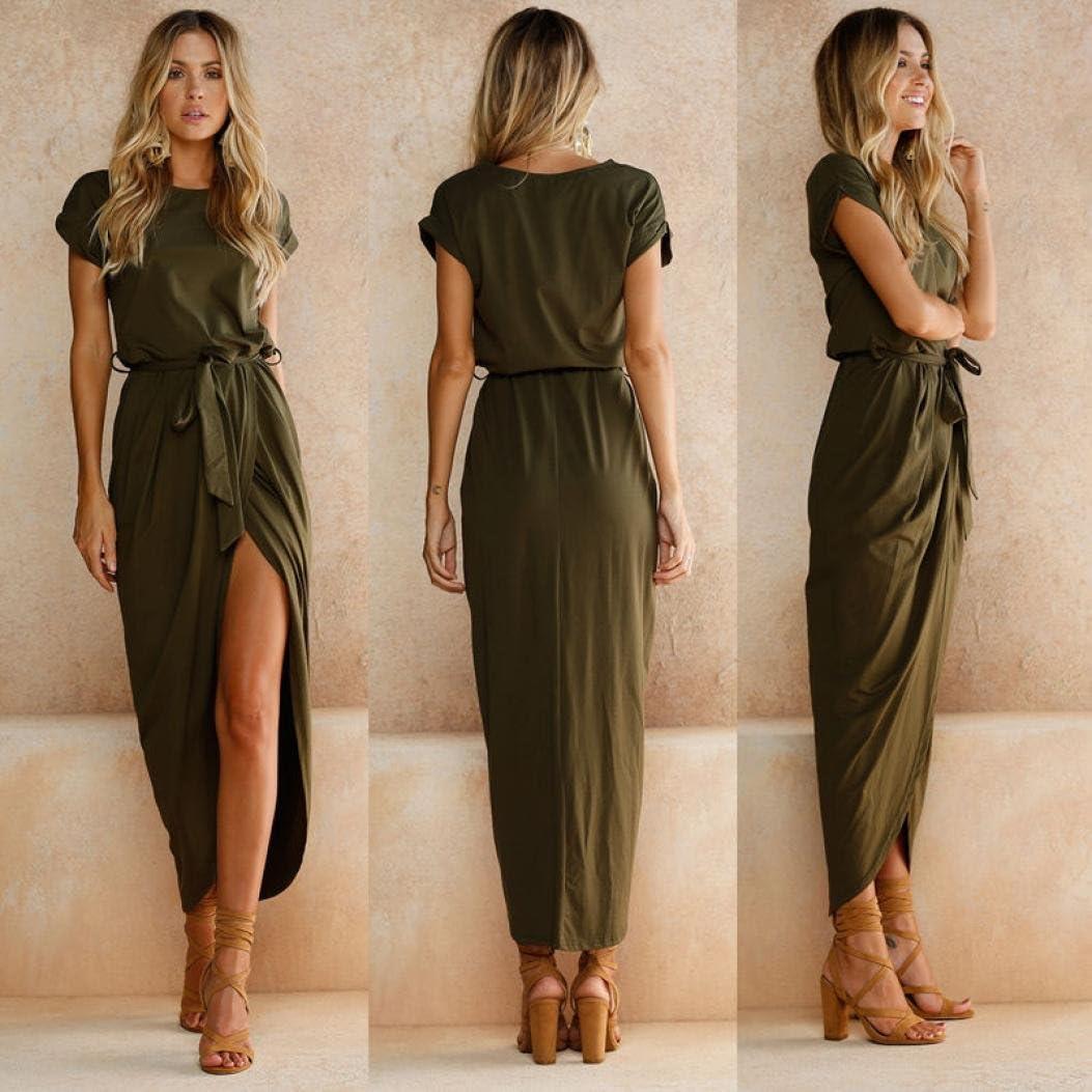 Amazon.com: arinla 2018 verano Popular hembra falda Boho ...