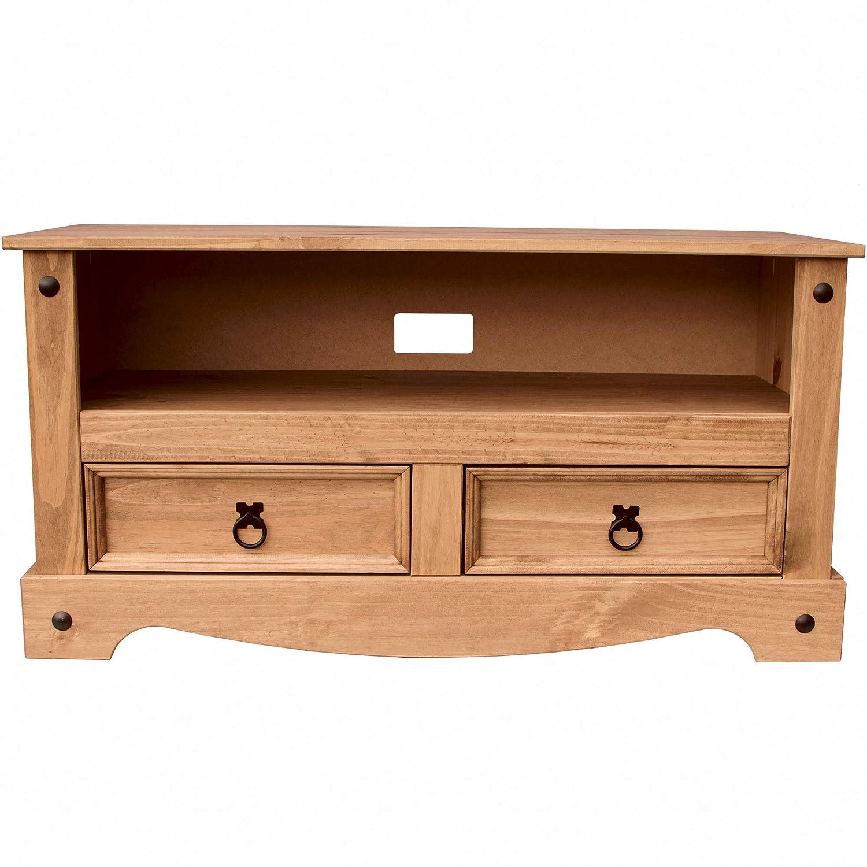 : 95 x 43 x 51 cm LWH Dimensions Home Discount Corona Flat Screen TV Unit pine