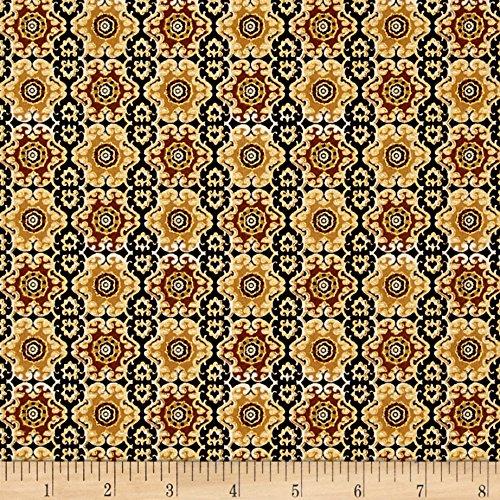 Imperial Gardens Medallion Cinnamon Fabric By The Yard