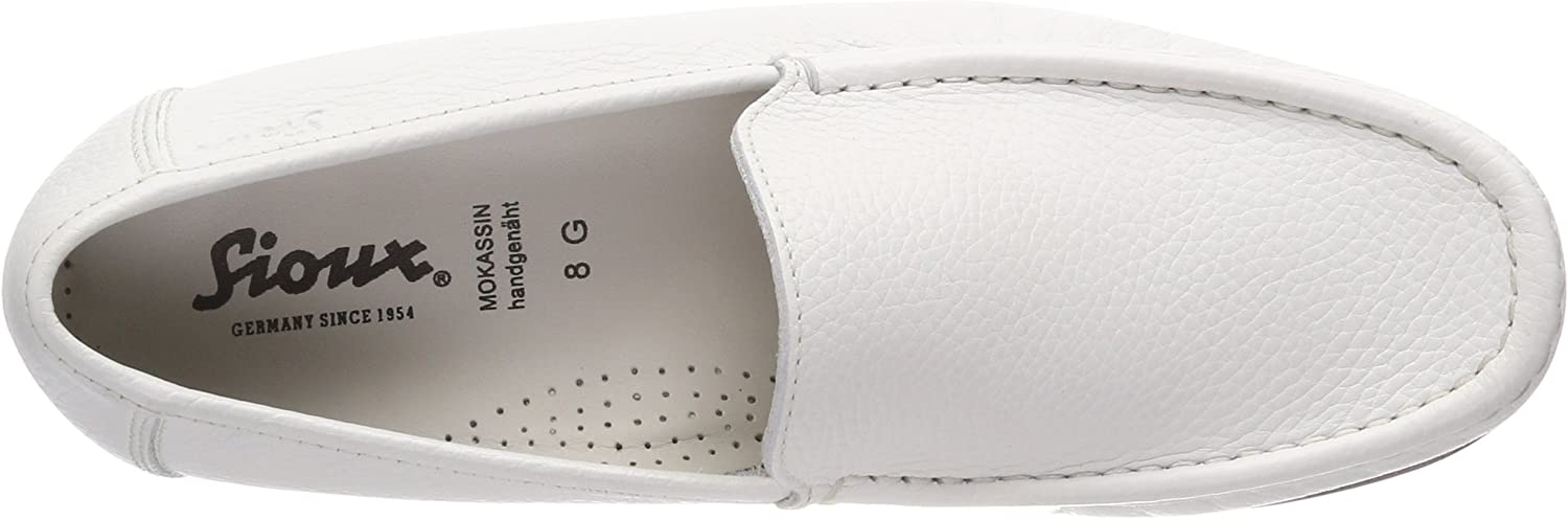 Sioux Claudio, Mocassins (loafers) Homme Blanc Weiss 001