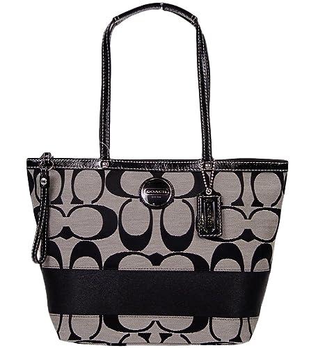 b6fdc096b9bd Authentic Coach Signature Black Stripe Tote Bag F15112  Amazon.ca  Shoes    Handbags
